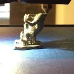 3d printing process of a frog