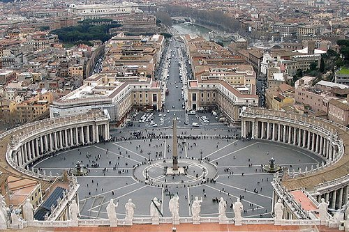 picture of the Vatican from above
