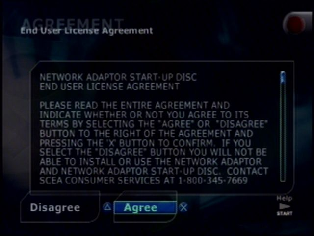 Image showing a screenshot for ps21 user agreement screen