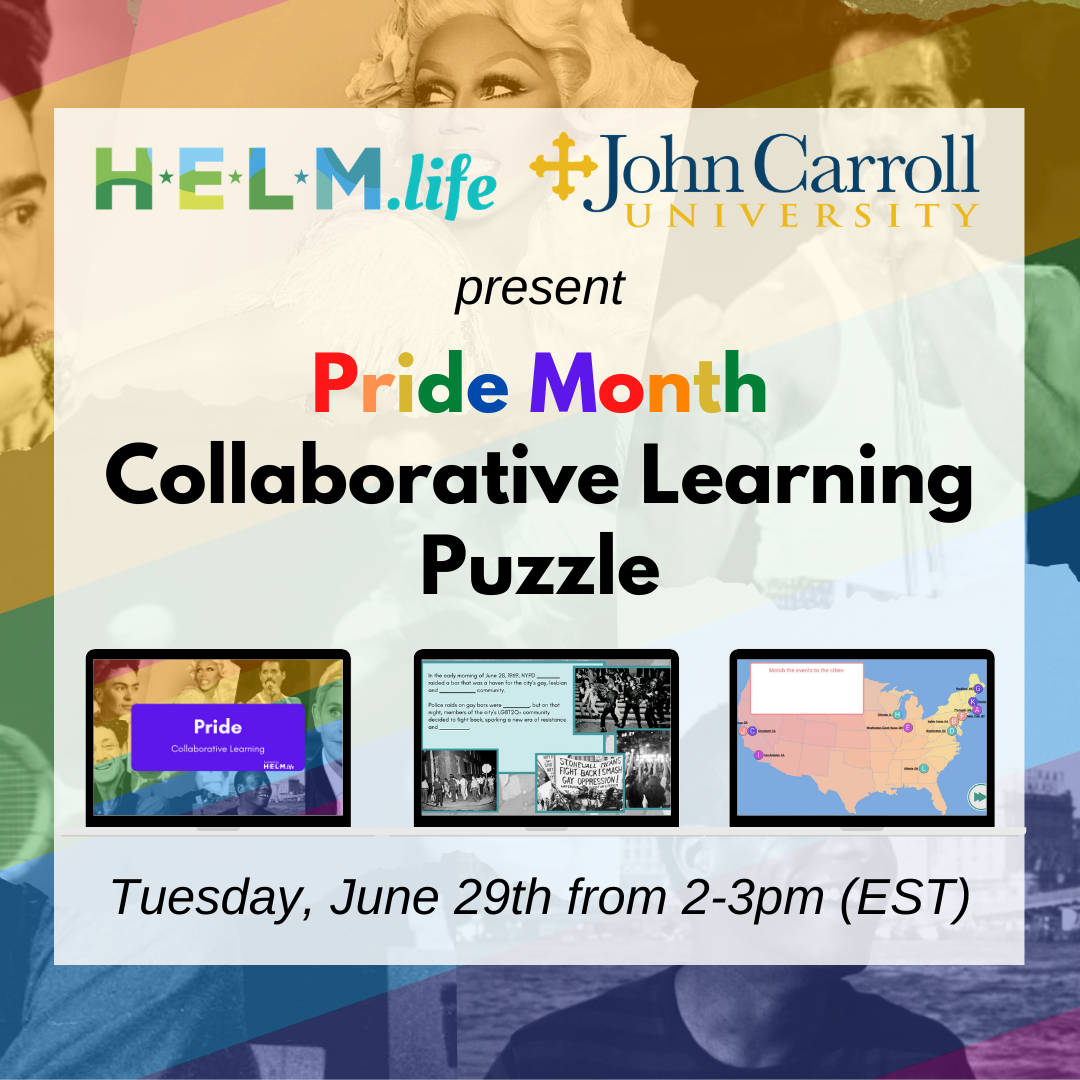 promo image for Pride Month Collaborative Learning Puzzle June 29 2-3 pm