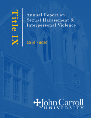 Cover page of the Title IX annual report for 2019-20