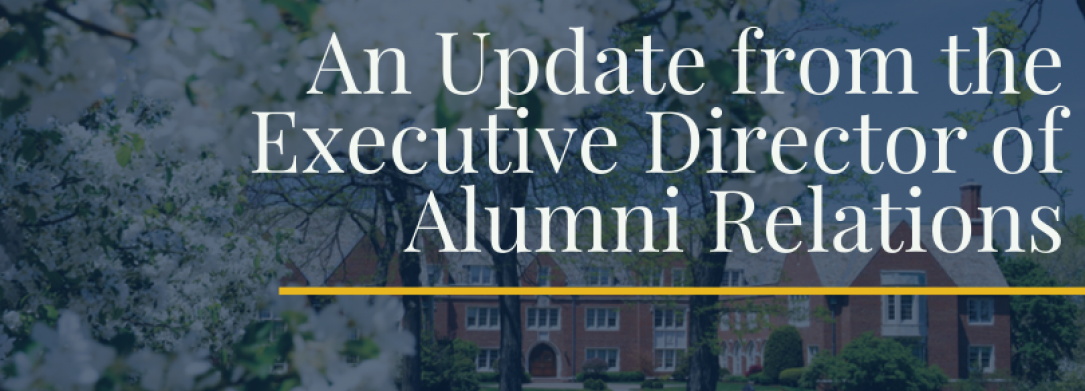 Update from Executive Director of Alumni Relations header
