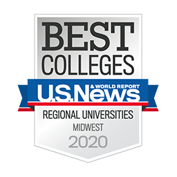 U.S. News & World Report badge for 2020 Best Colleges, Regional Universities Midwest 2020