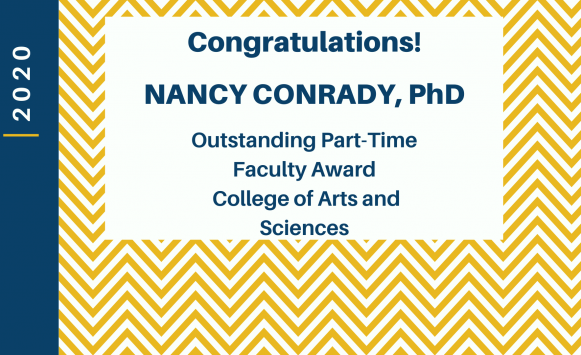Dr. Conrady named Outstanding Part-time Faculty