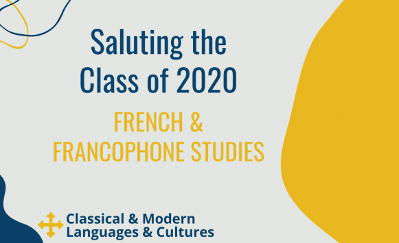Saluting the Class of 2020 French students