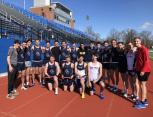 JCU Cross Country athletes pose together after completing their last run of 2020.