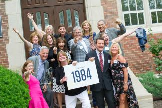 Photo of Class of 1984 attendees at the 2019 Reunion Weekend