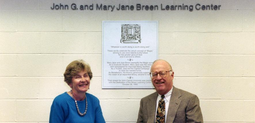 Jack and Mary Jane Breen celebrate the opening of their learning center.