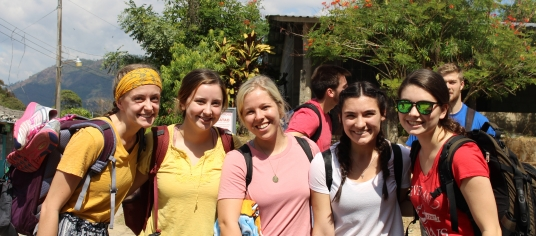 Students on an immersion trip.