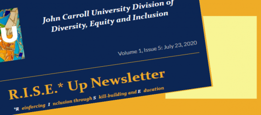 image of the DEI division newsletter header